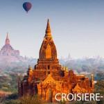 Vue de la ville de Bagan à Mynamar depuis un montgolfier