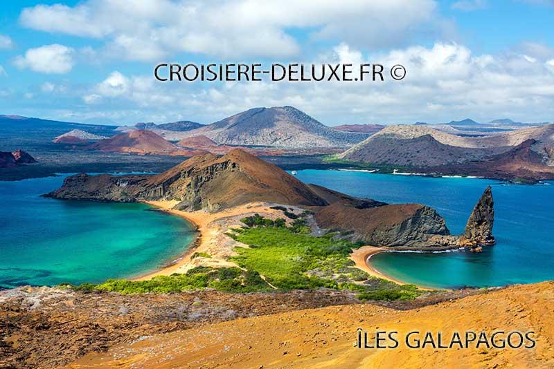 Vue aérienne des îles Galapagos