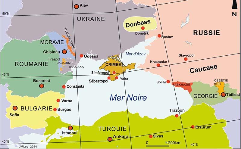 carte de la mer noire