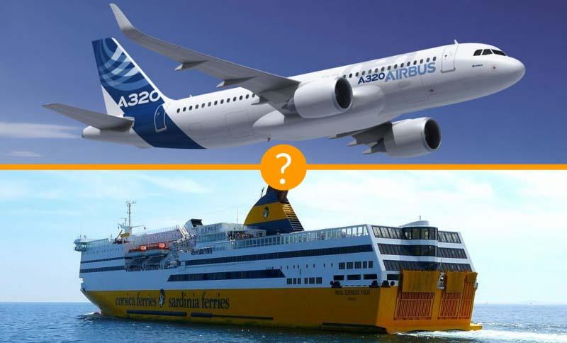 croisiere en bateau vs voyage en avion