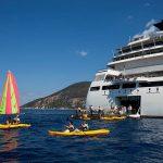 Seabourn Quest en Italie, activités nautiques (canoë)