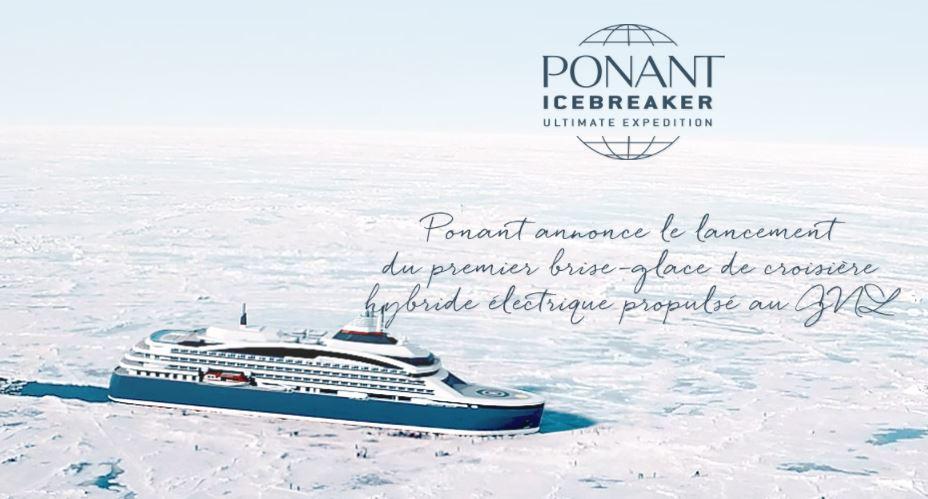 Le Ponant Icebreaker Le Commandant Charcot, livré en 2021, sera le premier navire de croisière de luxe brise-glace hybride