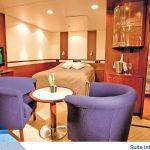 Suite intérieure de luxe du bateau Jules Verne (CMV)