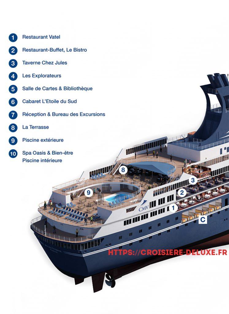 Plan détaillé du bateau Jules Verne 1/2