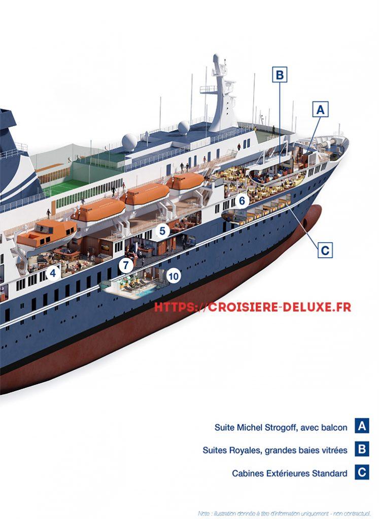 Plan détaillé du bateau Jules Verne 2/2