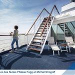 terrasse privative de la Suite Philéas Fogg & Michel Strogoff du bateau Jules Verne